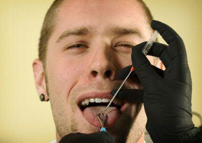 tongue piercing