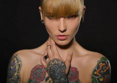 bunte Tattoos Frau